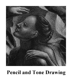 Pencil and tone drawings